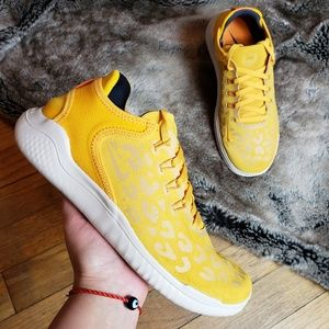 Nike Free RN 2018 Wild Suede yellow running shoes